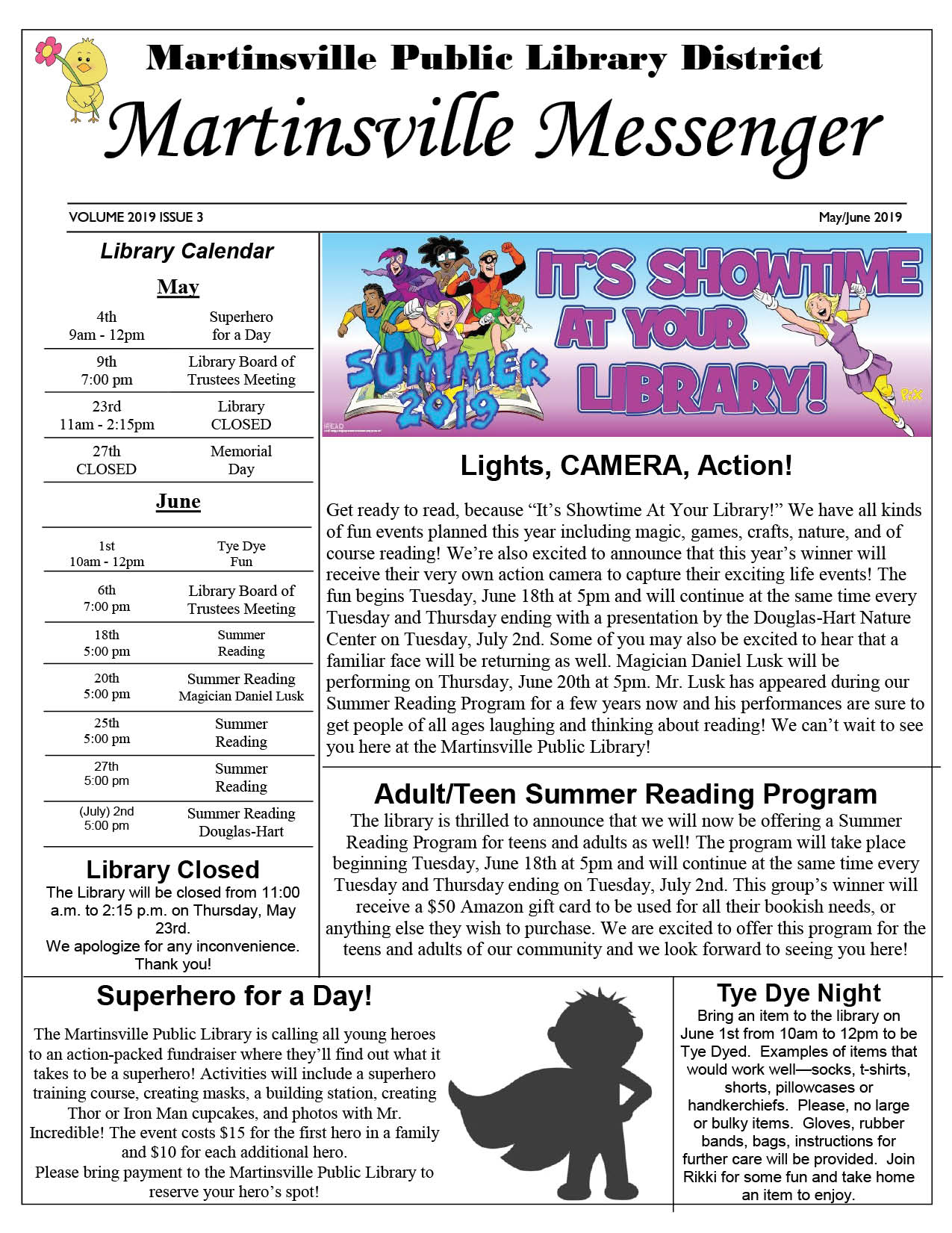 2019 Library Newsletter May / June