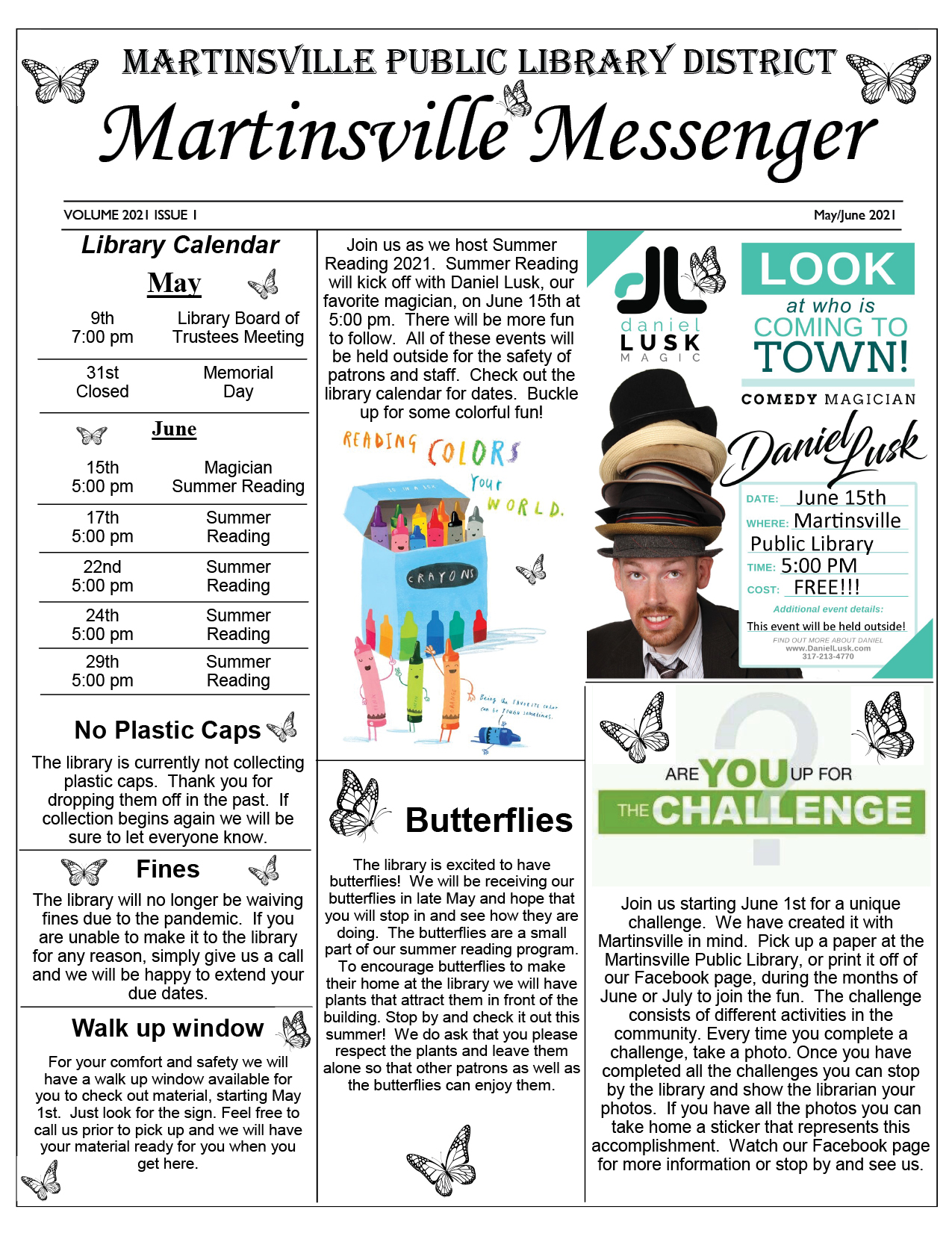 2021 Library Newsletter May / June